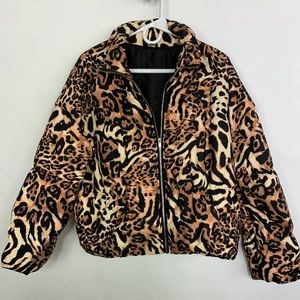 Dolls Kill Animal Print Puffer Jacket